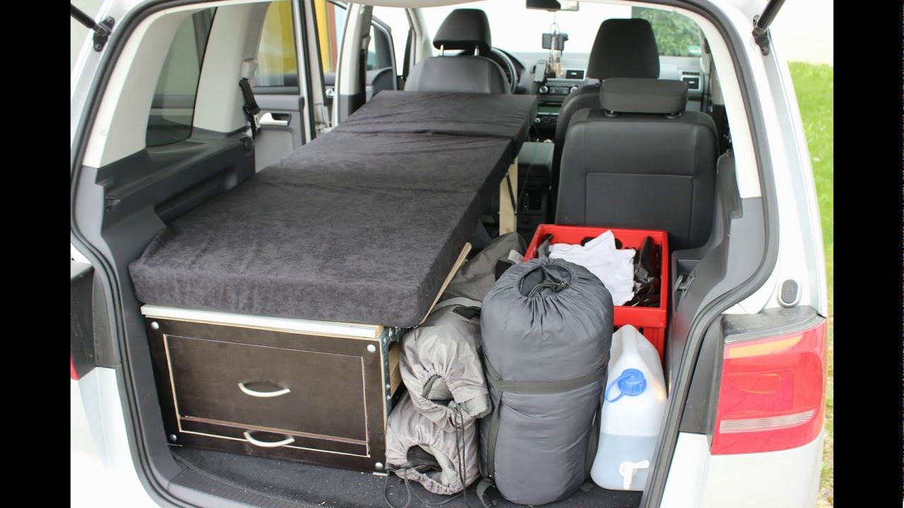 camper umbau minivan vw touran routan in 5 minuten. Black Bedroom Furniture Sets. Home Design Ideas