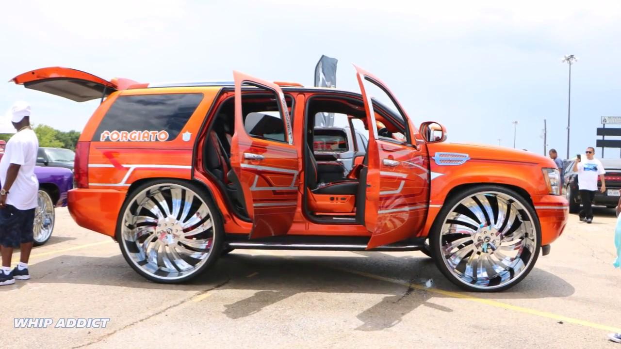 WhipAddict Kandy Orange Chevrolet Tahoe On Forgiato