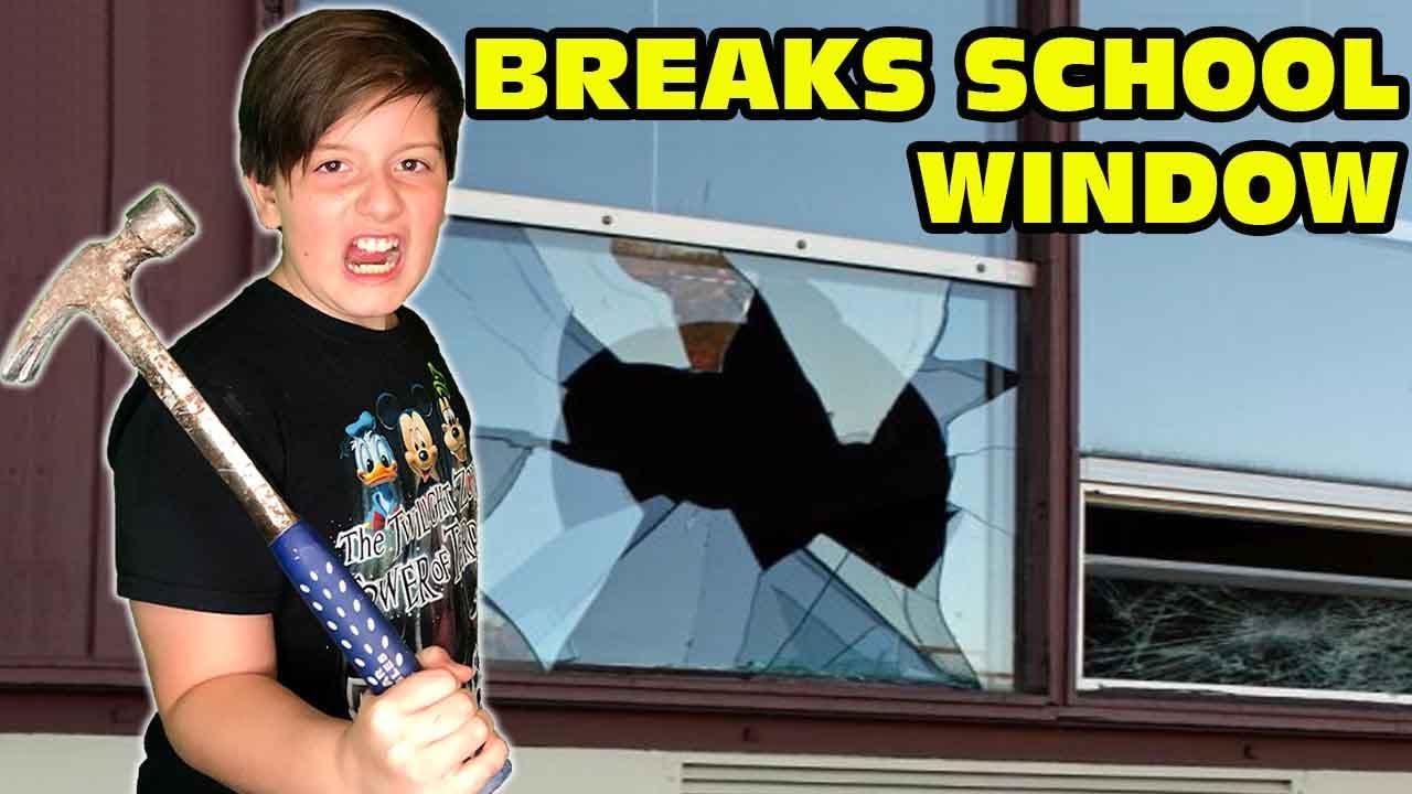 Kid Breaks Window At School - Teacher Calls Parents!
