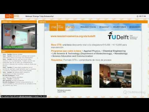 Webcast Orange Tulip Scholarship México
