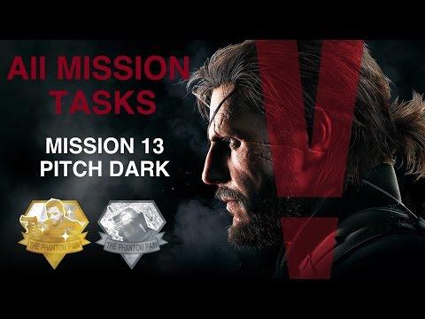 Metal Gear Solid V: The Phantom Pain - All Mission Tasks (Mission 13 - Pitch Dark)
