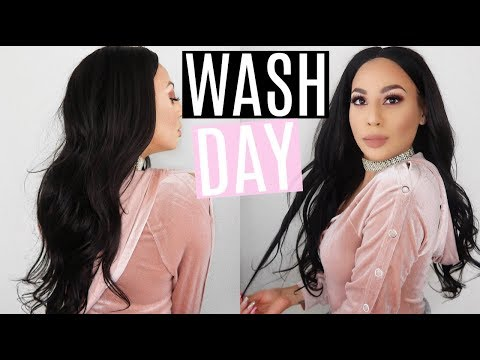 My Wash Day Hair Routine For A Sew In Weave