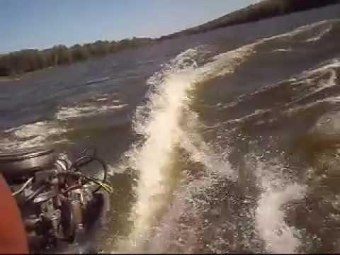 Работа лодочного мотора ВИХРЬ 25 - YouTube