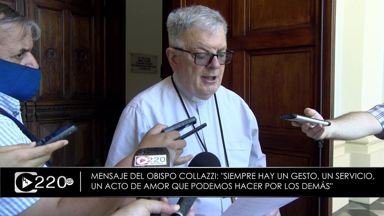 Obispo Collazzi con su clásico mensaje de fin de año