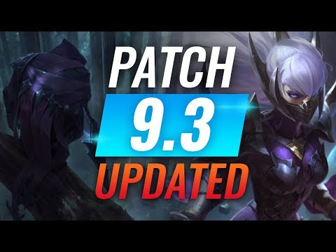 NEW UPDATE: Best Champions TIER LIST - League of Legends Patch 9.3
