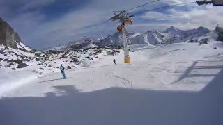 Австрия Горнолыжный курорт Ишгль 2016 Спуск в к конце  на скорости 100 km/ h(, 2016-03-02T17:27:01.000Z)