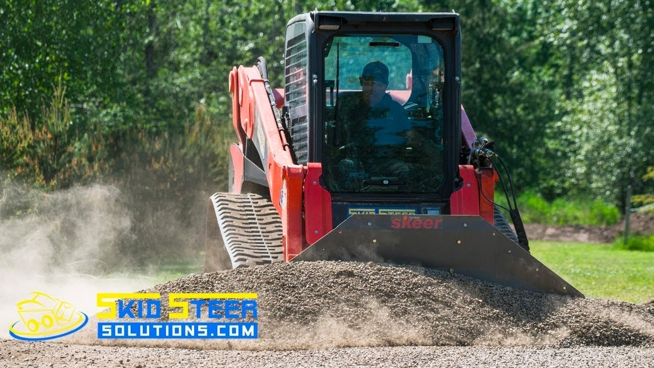 Skid Steer Driveway Grading with the Skeer Pro Plus Attachment | Skid Steer  Solutions