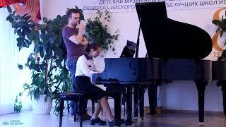 Фрагмент мастер-класса пианиста из Италии Андреа Мерло в Биробиджанской ДМШ