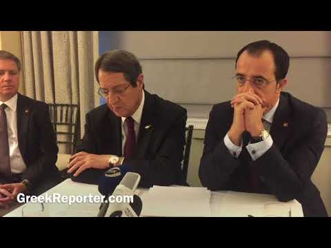 Cyprus President Anastasiades Press Conference post 72 UNGA