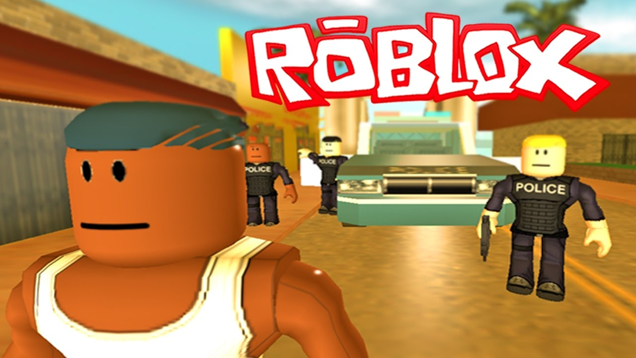 Roblox Real Gta 5 Escaping Police In Gta Roblox Grand Theft