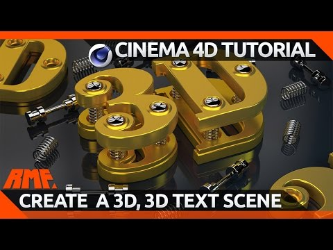 Cinema 4D Tutorial - Create a 3D 3D Text Scene