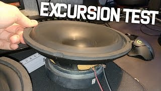 GENERIC SUBWOOFERS MAXIMUM EXCURSION TEST!!
