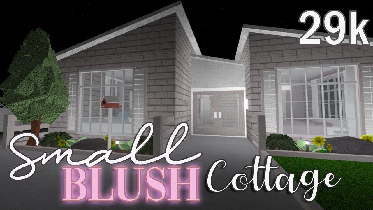 Bloxburg: Small Blush Cottage 29k - YouTube