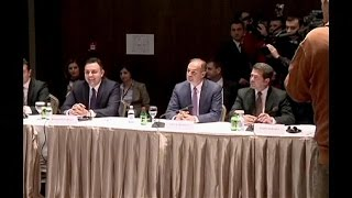 Kosovo minister on historic Serbia visit