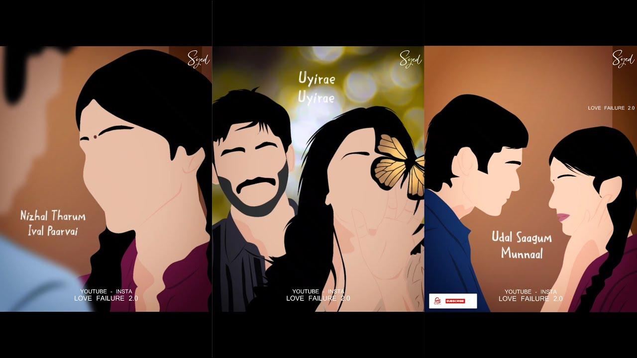 Nee partha vizhigal 😇 3 cover 💕 love song whatsapp status tamil 😇 love failure 2.0💔