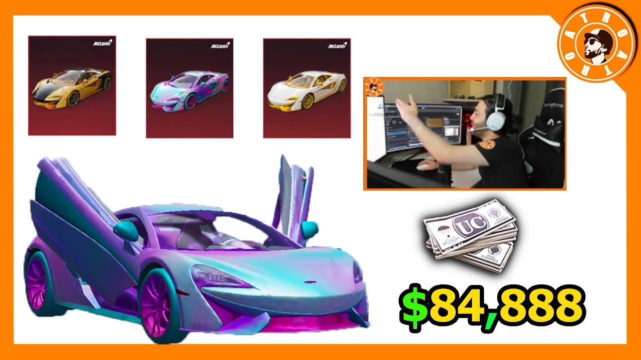 صورة فيديو : سحب دولاب سيارات الMcLaren بقيمة 84,888$ الف شدة😱 وتوزيع شدات للمشاهدين🎁 PUBG MOBILE