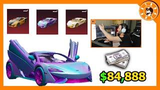 سحب دولاب سيارات الMcLaren بقيمة 84,888$ الف شدة😱 وتوزيع شدات للمشاهدين🎁 PUBG MOBILE