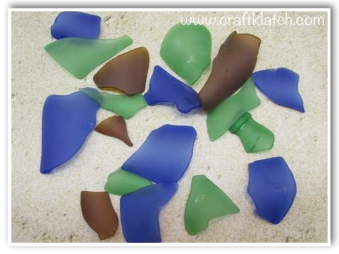 """Make Your Own """"Sea Glass""""!  DIY (Tumbled Glass)"""