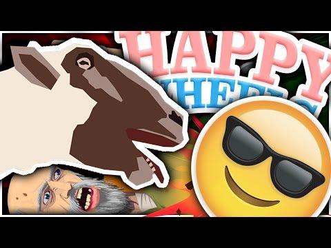 GOATS VS EMOJIS IN HAPPY WHEELS?! | Happy Wheels