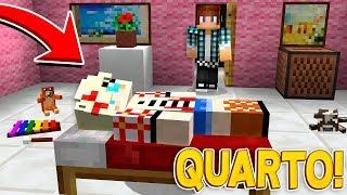 QUARTO NOVO DA NAMORADA PERFEITA !! - Casa Dos Youtubers #24 - Minecraft