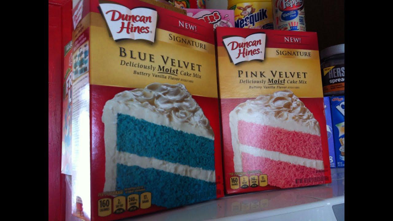 Duncan Hines Blue Velvet Et Pink Produits Américains