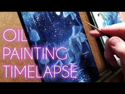 Oil Painting Timelapse ♥ Moonlit Caravan