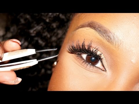 How To: Apply False Lashes For Beginners | #BeautyBasics