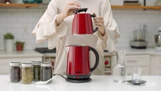 Saki Tea Maker - 1.7 L,110 V -Electric Kettle with Tea Infuser Teapot, Keep Warm Mode