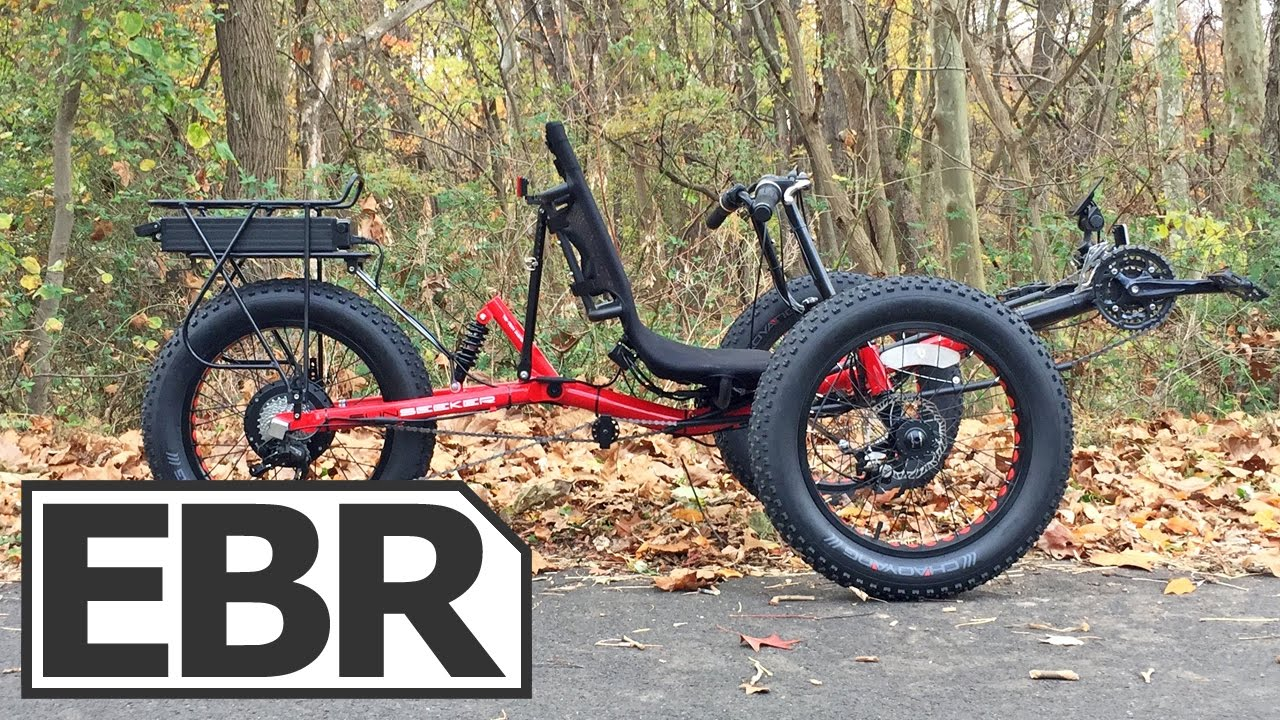 Sun Seeker Fat Tad Electric Trike Video Review - Fat Tire, Full Suspension,  Recumbent Ebike