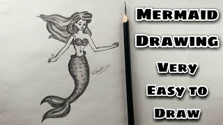 How To Draw Merṁaid In Easy Way