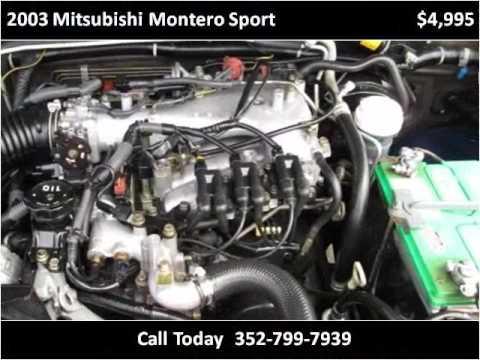 2003 Mitsubishi Montero Sport Used Cars Brooksville FL