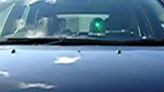 green beacon fireball teardrop light on dash paramedic