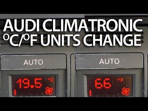 How to change temperature units Audi Climatornic (A2 A3 A4 A6 TT) celsius fahrenheit FIS DIS