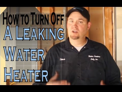 Shutting Down A Water Heater How To Turn Off And Drain