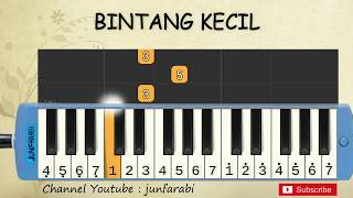 not pianika bintang kecil - tutorial belajar pianika lagu anak - not angka bintang kecil