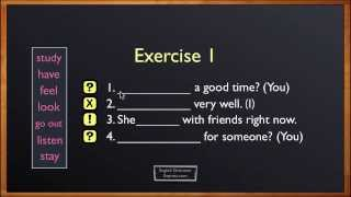 Present Continuous Exercise