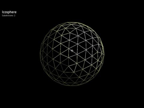 Sphere from icosahedron: OpenGL / Oberon / Sdl2