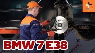 Hvordan bytte foran bremseskiver og bremseklosser på BMW 7 E38 BRUKSANVISNING | AUTODOC