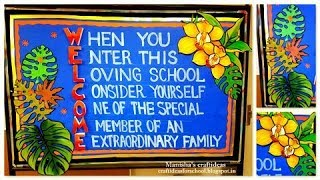 bulletin board ideas for school and classroom / welcome to school bulletin board