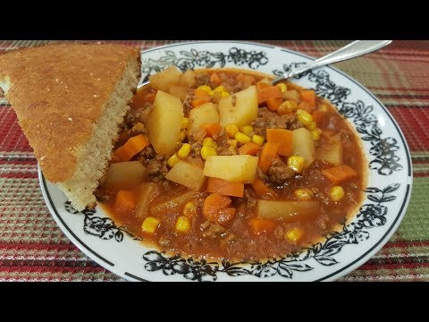 Hamburger Soup - One Pot Meal - The Hillbilly Kitchen