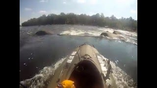 Mokai - Jet Kayak - w/dog save, James River RVA FlatWater to Reedy Creek and Back