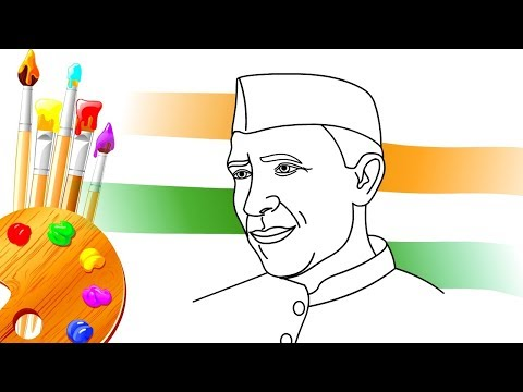How to Draw Pandit Nehru For Kids |  Children's day Special Drawing & Coloring Pages For Children