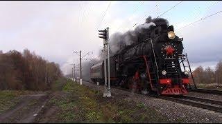 Паровоз ЛВ-0182 с поездом Москва – Тула