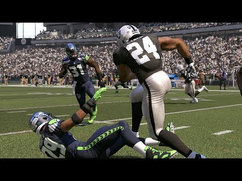 Madden 17 Seahawks Battle Against (Marshawn Lynch) & The Raiders Xbox One Game Play