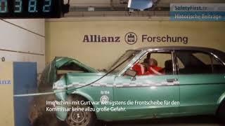 Crashtest Ford Granada im Allianz Zentrum für Technik