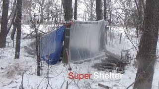Winter Camping Trip: Super Shelter 2