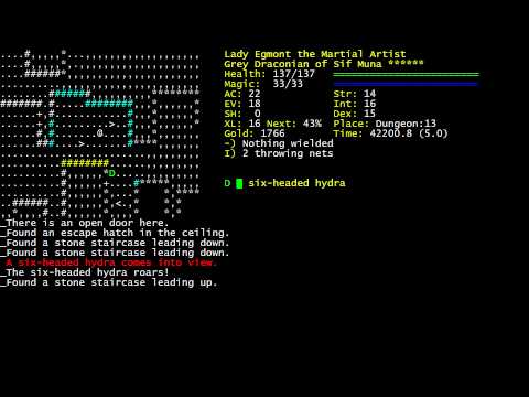 Let's Play Dungeon Crawl Stone Soup: Lady Egmont the DrTm Part 5