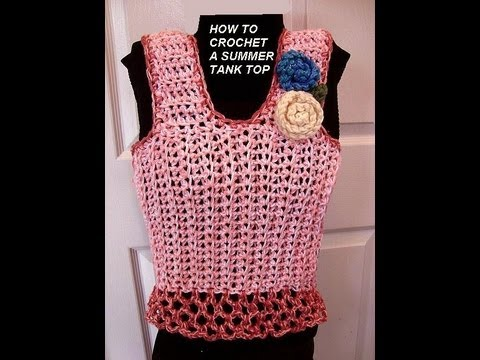 Free Crochet Toddler Tank Top Pattern : CROCHET PATTERN, PINK SUMMER TANK TOP, how to diy, make it ...