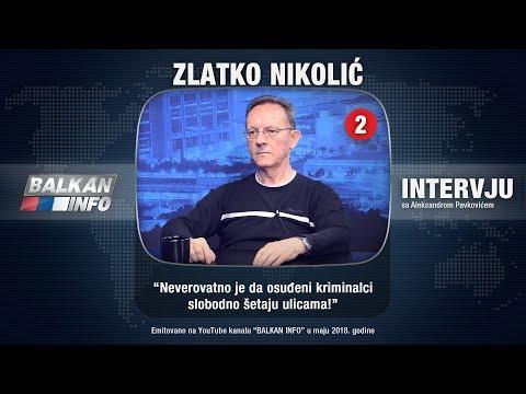 INTERVJU: Zlatko Nikolić - Neverovatno je da osuđeni kriminalci slobodno šetaju ulicama! (8.5.2018)