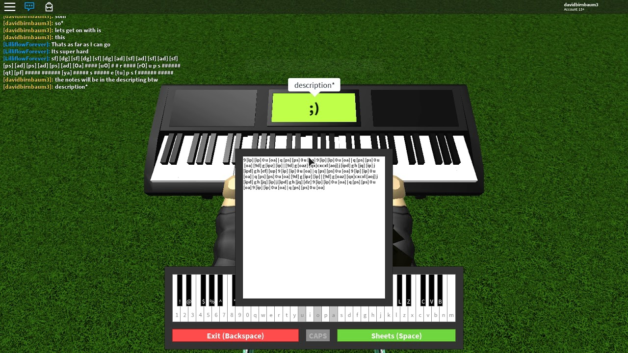 Roblox Piano Bunch Of Random Notes Part I Dont Know By Superwagon1000